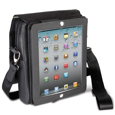 The iPad Stand Satchel - A well-built shoulder bag with Built-in iPad Stand